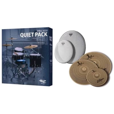 Zildjian L80 468 Low Volume Cymbal Pack, With Silent Stroke Remo Drum Heads
