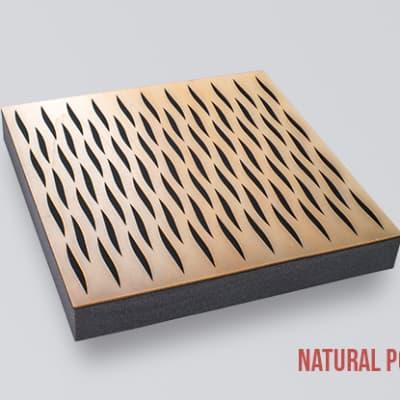 Decosorber Eva - Acoustic Sound Absorber Panel (6 Pack) - Natural Poplar