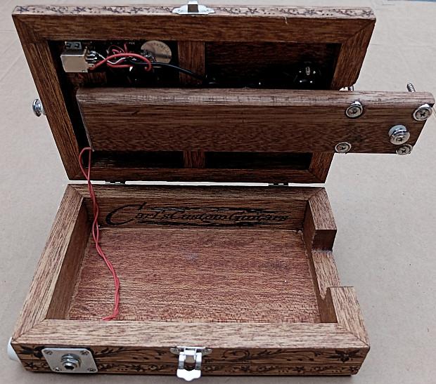 loaded engraved opening 2pickup 6string cigar box guitar body reverb. Black Bedroom Furniture Sets. Home Design Ideas