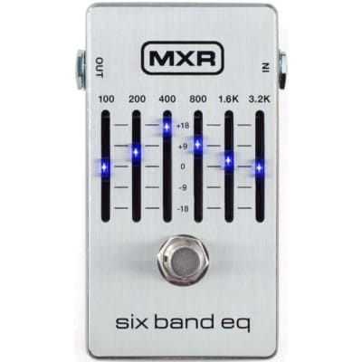 MXR M109S Six Band Graphic EQ Pedal, Silver for sale