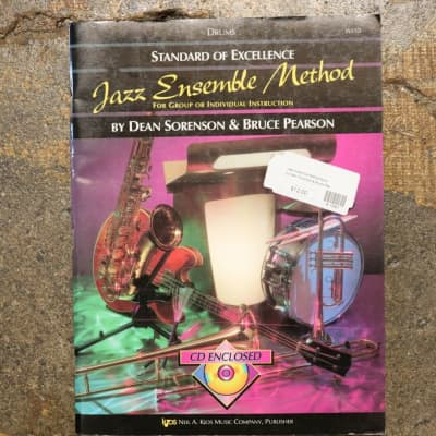 """""""Standard of Excellence Drums Jazz Ensemble Method"""" Book w/CD by Bruce Pearson"""