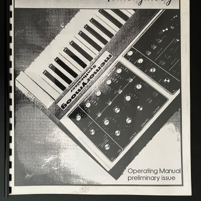 Moog Memorymoog Lintronics Manual
