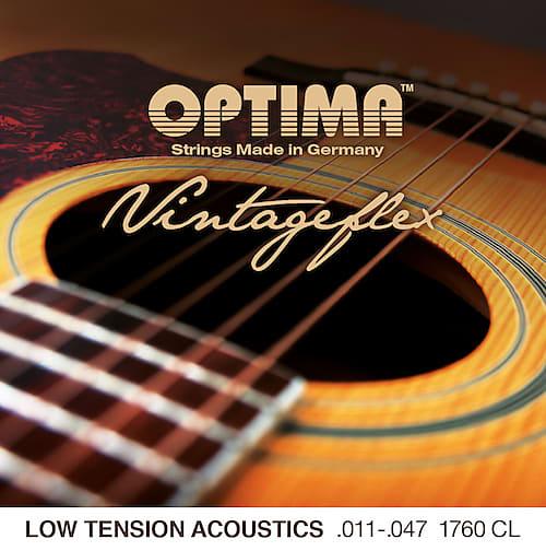 optima 1760cl vintageflex low tension acoustic guitar strings reverb. Black Bedroom Furniture Sets. Home Design Ideas