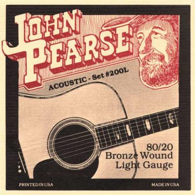 John Pearse 200 L   Corde Per Chitarra Acustica   80/20 Bronze Wound