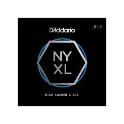 D'Addario NYXL Single Plain Carbon Steel Guitar String - .015