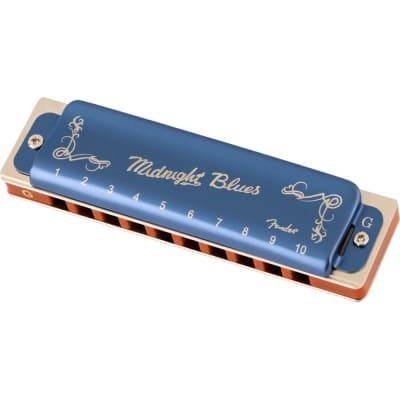 Fender Midnight Blues Diatonic Harmonica - Key of G