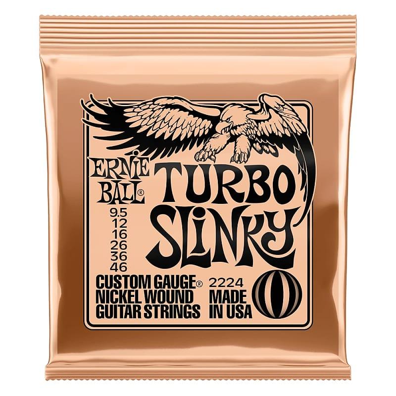 Ernie Ball Turbo Slinky Nickel Wound Electric Guitar Strings 9.5-46 Gauge