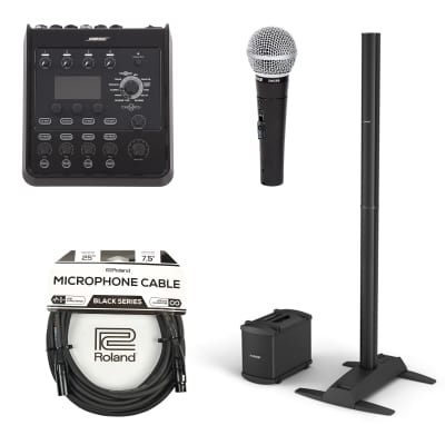 Bose L1 Model 1S B1 Bass Package PA System w/T4S ToneMatch Mixer, SM58S Mic and XLR Cable Bundle
