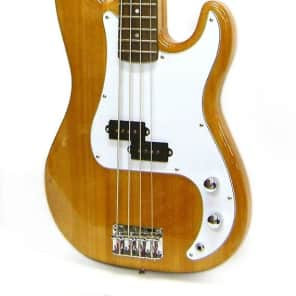 Crestwood Bass Guitar 4 String Natural P-Style for sale