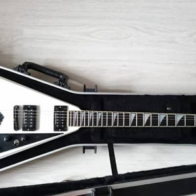 Jackson USA Signature Randy Rhoads RR1 Snow White with Black Pinstripes for sale