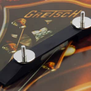 Gretsch Ebony Bridge Base With Nickel  Parts For Arch Top Guitars, 74mm w/20mm 0080631000
