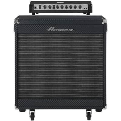 """AMPEG Portaflex PF500 Bass Amp Head & PF115HE 1x15"""" Flip Top Bass Cabinet"""