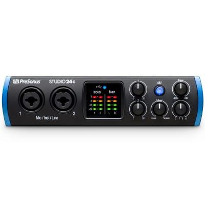 PreSonus Studio 24C 2x2 USB-C Audio / MIDI Interface