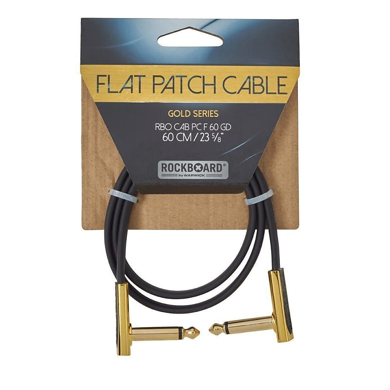 Rockboard Gold Series Flat Patch Cable 60cm W Fast Same
