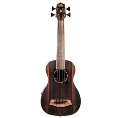 Kala UBASS-EBY-FS U-Bass Striped Ebony Fretted Ukulele Bass