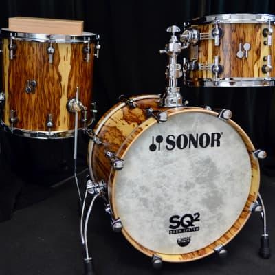 "Sonor 18/12/14"" Vintage Beech SQ2 Drum Set - African Marble"