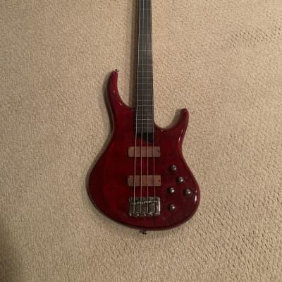 MTD Kingston Heir 4-String Bass w/ Rosewood Fretless Transparent Cherry for sale