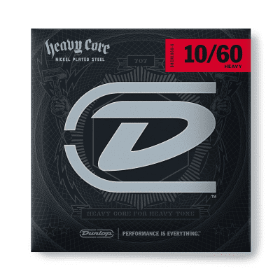 Dunlop DHCN60 Heavy Core Nickel Plated Steel Electric Guitar String - 0.06