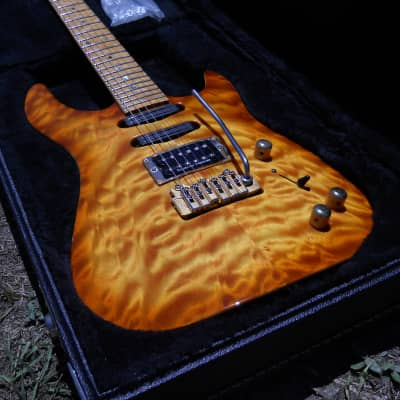 1996 Brian Moore MC-1 Custom #580 Birdseye Maple Neck Quilt Top Brewster NY OHSC for sale