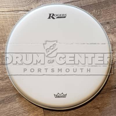 Rogers Logo Drum Head 16 Coated White