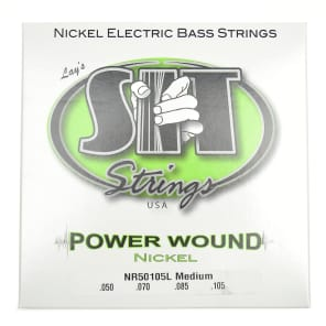 SIT NR50105L Power Wound Nickel Plated Bass Strings - Medium (50-105)