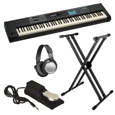 Rockville Double X Braced Keyboard Stand w Push Button Lock For Roland JUNO-DS61