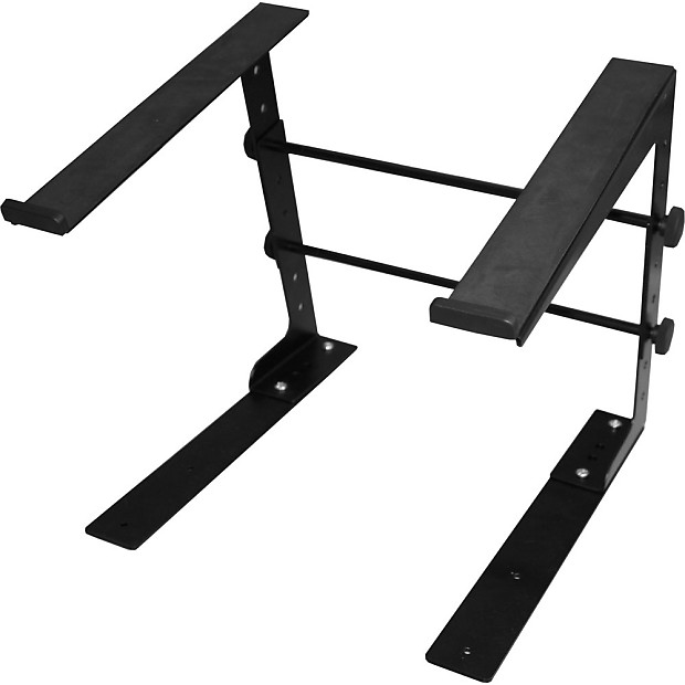 Ultimate Support JS-LPT100 Single-Tier Laptop DJ MIDI Controller Mixer Stand