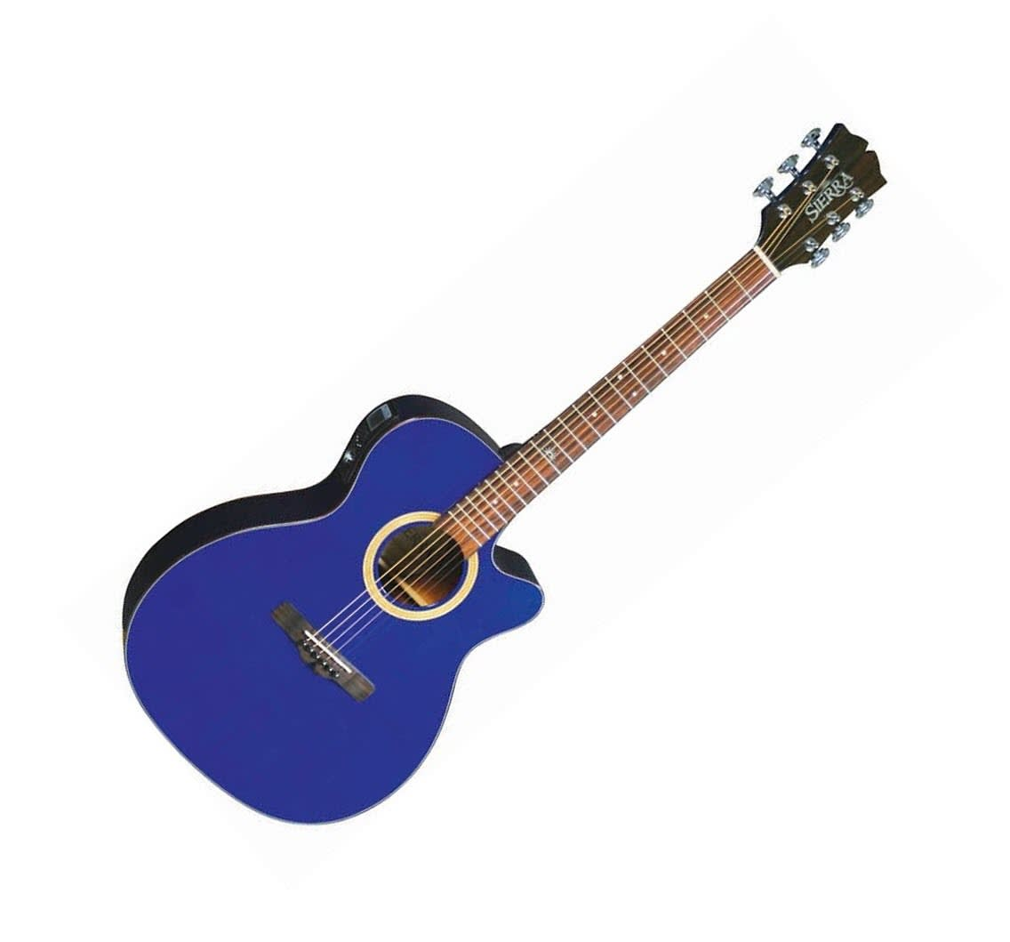 Nevada Auto Sound >> Sunrise Auditorium Acoustic-Electric Guitar - Trans Blue | Reverb
