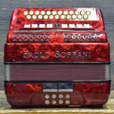Paolo Soprani 2-Row 8-Bass 23-Button 9-Treble Switch B-C Red diatonic Accordion