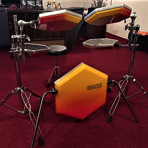 simmons sdsv electronic drum kit early 1980 39 s red reverb. Black Bedroom Furniture Sets. Home Design Ideas