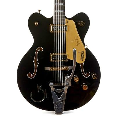Gretsch G6120TB-DE Duane Eddy Hollow Body 6 String Bass - Black Pearl image