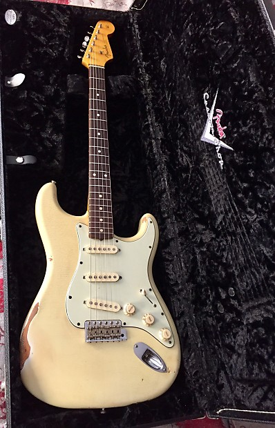 Fender Stratocaster Masterbuilt John Mayer Relic By Dennis Galuszka 2010 Olympic White