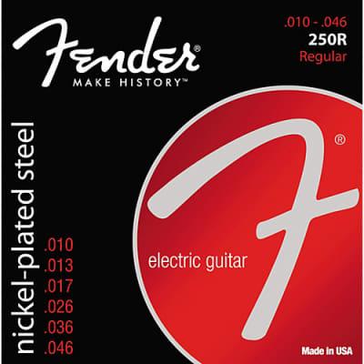 Fender Super 250R Nickel-Plated Steel Electric Guitar Strings Set, REGULAR 10-46 for sale