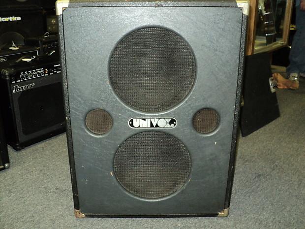 Vintage Univox 2x12 Amplifier Cabinet U1205 Usa Reverb