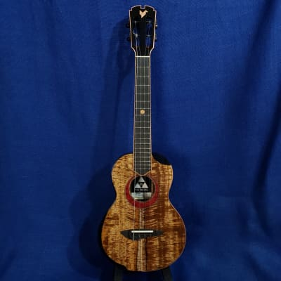Mims Ukes: The Rebel Tenor NO. 6 Signature Limited Edition All Solid Koa / Ebony Ukulele Bag .761
