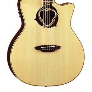 Luna Oracle Series Dolphin Cutaway Acoustic-Electric Guitar - Natural, OCL DPN for sale