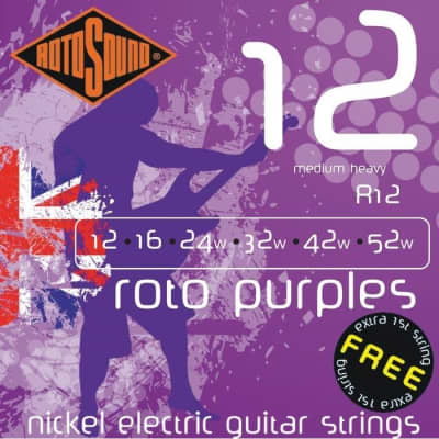 Rotosound R12 Roto Purples Electric, Medium Heavy, 12-52 for sale