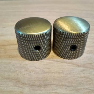 Guitar Locking Dome Knobs Solid Brass