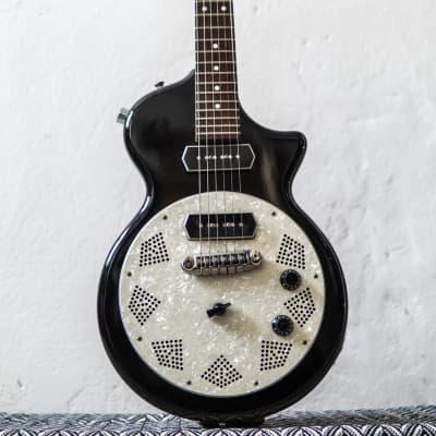 rare first year made Usa American Chandler Limited LectraSlide 1999 Black Slide guitar for sale
