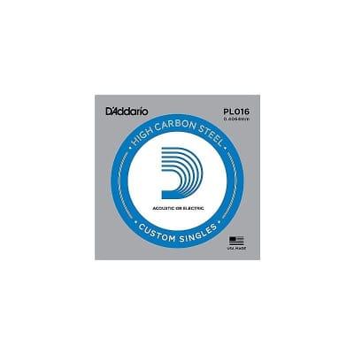 D'Addario Nickel Plain Electric/Acoustic Single String PL016