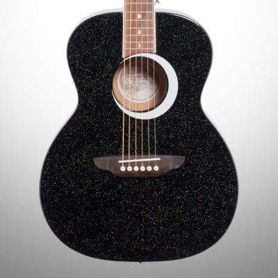 Luna Aurora Borealis 3/4-Size Acoustic Guitar, Black for sale