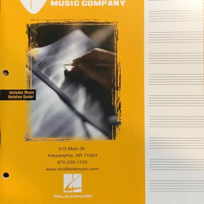 Hal Leonard Shuffield Music Manuscript Paper - 64 pages - 12 staves