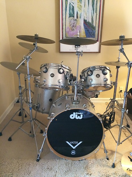 Priced To Sell Dw 5 Pc Silver Sparkle Maple Kit 2002