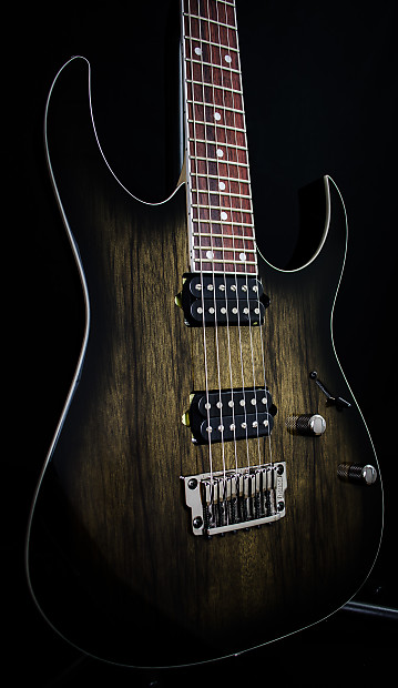 Ibanez RG652LWFX AGB RG Prestige 500 Series Limba Wood HH Electric Guitar W Fixed Bridge Anvil Gray Burst