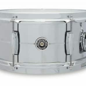 "Gretsch GB4162S Brooklyn Chrome Over Steel 6x12"" 6-Lug Snare Drum"