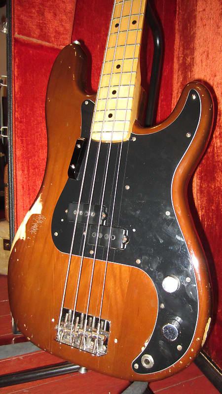 vintage original 1976 fender precision bass mocha reverb. Black Bedroom Furniture Sets. Home Design Ideas
