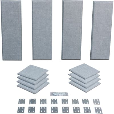 Primacoustic London 8 Studio Audio Acoustic Room Treatment Kit 12-Panel Grey