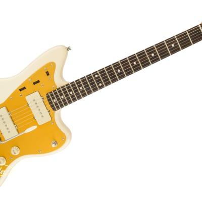 "Squier J Mascis Jazzmaster Electric Guitar, C-Shaped 9.5"" Radius Laurel Fingerboard, Vintage White for sale"