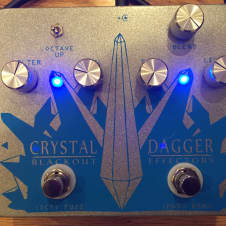 Blackout Effectors Crystal Dagger Brushed Metal/Blue