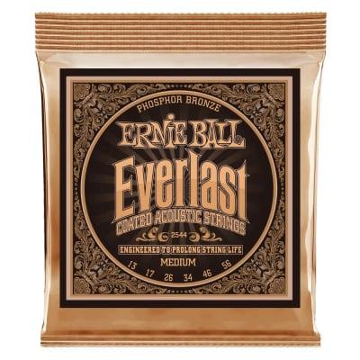 Ernie Ball Everlast Medium Coated 2544 Phosphor Bronze Acoustic Guitar Strings